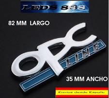INSIGNIA  LOGO EMBLEMA OPC LINE OPEL METALICO ADHESIVO 3D METAL CROMADO.