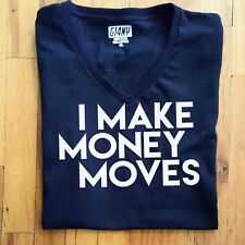 I️ Make Money Moves T - shirt blk with white letters