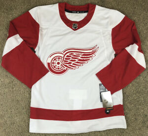 Adidas Authentic Detroit Red Wings Mens Sz 54 NHL Hockey Jersey Red White NWT