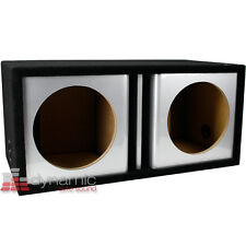 "ATREND ZV12D Custom 12"" Dual Vented Ported Silver Kandy Paint Sub Box Enclosure"