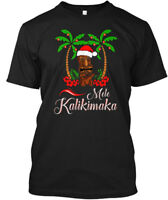 Custom Tiki Mele Kalikimaka Merry Christmas Hawaii Hanes Tagless Tee T-Shirt
