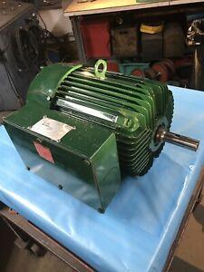 7.5 Hp 230 Volt 1 Phase 1750RPM Farm Duty Electric Motor, Can Run CW or CCW.