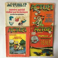 Actuel * Lot de 4 Numéros : 15 (1971) + 22/23 (1972) + 5 (1971) + 33/34 (1973)
