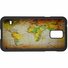 World Map Hard Case Cover For Samsung New