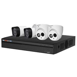 WATCHGUARD CCTV COMPLETE HDCVI KIT WITH 4 X CAMERAS & 8 CHANNEL DVR(CVR4COMPACK)