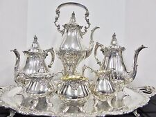 Wallace Baroque Silverplate Coffee and Tea Service