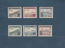 Albanie poste aérienne  paysages   1950  num: 44/49  *