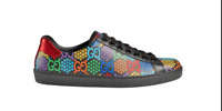 Gucci Mens' Psychedelic GG Canvas Low Top Sneakers Size 8