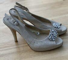 Ladies Dune Slingback Peep Toe Shoes Size 4