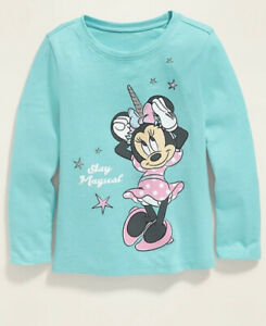 Old Navy Toddler Girl Boy ~ Minnie Mouse ~ Long Sleeve Tee ~ Size 4T or 5T