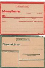 1606, 2 x Lebenszeichen Postkarte in grün und rot !