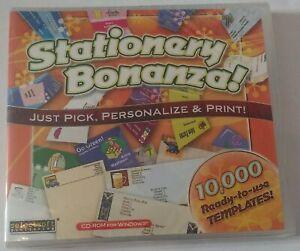 Print Bonanza CD-ROM Software PC Windows XP Vista 7 8 NEW 10,000 Ready Templates