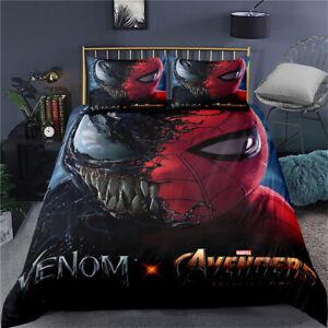 Venom Spiderman Duvet Cover Set Quilt Covers Single Double King Super King
