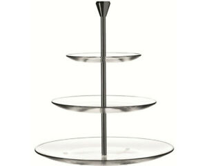 LEONARDO 020543 Dinner 3-tlg. Etagere Transparent/Metall