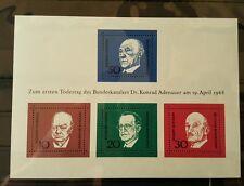 Germany Federal Frg Vintage 1968 Block 4 Mint MNH More Sh Shop