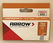 "Arrow #259 Staples 9/16"" x 5/16"", 18 Gauge, 1000 New In Package"