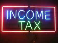"New Income Tax Beer Neon Sign 17""x14"""