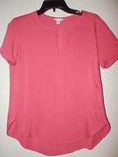 EUC Calvin Klein Women Size XS Tops Pullover SSleeve Polyester Cotton Orange