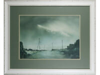 Ashley Jackson Framed Print 'Rain On Flushouse Moor' Artist Signed Yorkshire Art