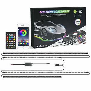 Car Truck Underbody Neon Light RGB LED Strip Bluetooth APP Remote Underglow Lamp