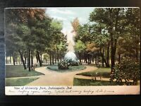 Vintage Postcard>1906>University Park>Indianapolis>Indiana