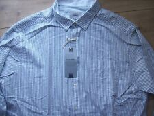 MARKS & SPENCER OXFORD WEAVE COTTON TAILORED FIT MENS FASHION SHIRT XXL ADULT