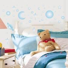 Wandsticker Leuchtsterne Sonne + Mond Baby Zimmer  Wandtattoos selbstklebend