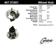 Wheel Bearing and Hub Assembly-Premium Rear Centric 407.51001 with ABS sensor