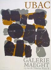 Raoul Ubac-litografía-cartel galería Maeght 1966