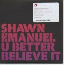 (AH182) Shawn Emanuel, U Better Believe It - DJ CD