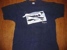 PIPER AIRCRAFT vtg T shirt XL Vero Beach aviation Super Cub Florida