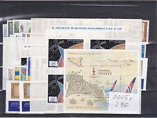 ITALIA REPUBBLICA 2005 ANNATA COMPLETA 65+2 FOGLIETTI VALORI GOMMA INTEGRA