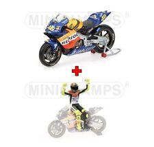1:12 Minichamps Honda RC211V + Figure Figurine Valentino Rossi 2000 MotoGP NEW