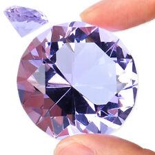 40mm Purple Clear Crystal Glass Cut Diamond Jewel Paperweight Wedding Decoration