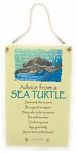 "Advice from a Sea Turtle Inspirational 5.5""x8.5"" Wood Plaque Sign for Wall"