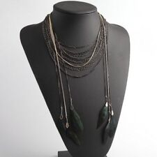 AUTHENTIC STELLA & DOT LAYERED FEATHER NECKLACE