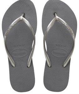 Havaianas Women`s Flip Flops Slim Flatform Sandals Steel Grey Sandal AnySize NWT