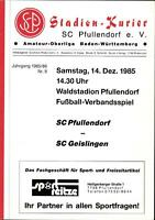 OL 1985/86 SC Pfullendorf - SC Geislingen, 14.12.1985