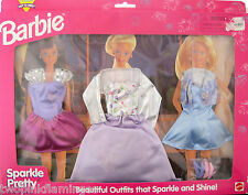 1998 Mattel BARBIE Sparkle Pretty Fashion 3 OUTFITS New in Package