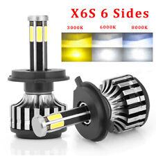 CREE 6 Side H4 LED Headlight Kit 9003 Hi/Lo Beam Bulbs 12000LM 6000K Car Lights