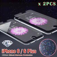 2 x iPhone6 /Plus/6S Diamond Multi Colour Glitter Effect Screen Protector Cover