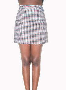 Houndstooth Checked Mini Skirt