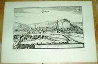 Landshut: alte Ansicht Merian Druck Bannstaedte 1940 Städteansicht Bayern Stadt