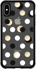 Apple iPhone XS Max Case Case-Mate Wallpapers Black Metallic Dot Slim Cover New