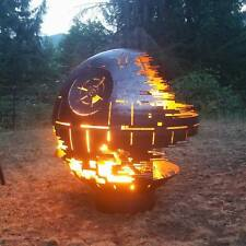 "Death Star - Decorative Dome Firepit - 1/4"" steel - 36"""