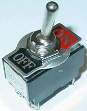 Kippschalter, Leistungsschalter, chrom, 2-polig,  2 x EIN-AUS, 250V/10A, S27