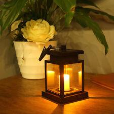 LED Solar Laterne Kerze Flackerlicht Solarleuchte Dekolampe Gartenleuchte