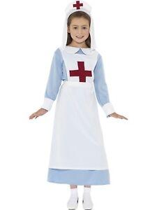 Smiffys Girls WW1 Nurse Fancy Dress Costume Party Outfit