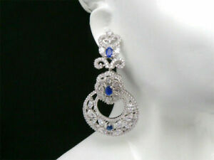 Cubic Zirconia Round Circle Dangle Earrings Fashion Jewelry 22 BLE 44