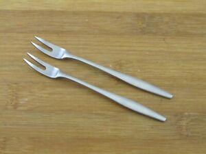 """2 Two Dansk Variation V Cocktail Forks 4 5/8"""" Denmark Stainless Flatware"""